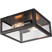 "ELK Lighting 63021-2 Parameters-Bronze Flushmount, Bronze Finish, 12""W x 5""H"