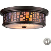 "ELK Lighting 70027-2-LA Tiffany Flushes  Flushmount, Oiled Bronze Finish, 13""W x 4""H"