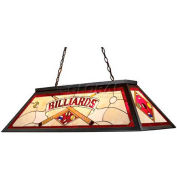 Landmark 70053-4 Tiffany Game Room-Lighting 4-Light Light, Tiffany Bronze Metal W/ Red Billiards