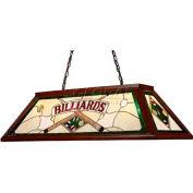 Landmark 70082-4 Tiffany Game Room-Lighting 4-Light Light, Dark Mahogany Wood With Green Billiards