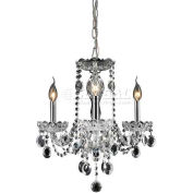 "ELK Lighting 80031/3 Balmoral Chandelier, Clear Crystal & Chrome Finish, 15.75""W x 19""H"