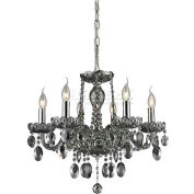 "ELK Lighting 80042/6 Balmoral Chandelier, Polished Chrome Finish, 19.5""W x 22.5""H"