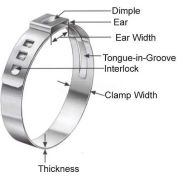 Oetiker Steeples Ear Clamps, Band Range 7.0 - 8.7 Mm