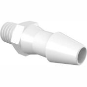 """10 - 32 Unf To 5/32"""" Barbed Adapter, High Density Polyethylene"""