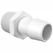 """3/4 - 14 Npt To 3/4"""" Barbed Adapter, Non-Animal Derived Polypropylene, Black"""