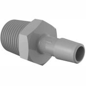 "Eldon James 1/2 - 14 NPT to 3/8"" Barbed Adapter, Gray Kynar"