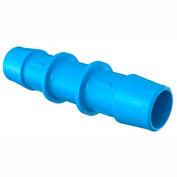 "Eldon James 5/8"" Barbed Straight Coupler, Antimicrobial High Density Polyethylene"