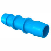 "Eldon James 3/4"" Barbed Straight Coupler, Antimicrobial High Density Polyethylene"