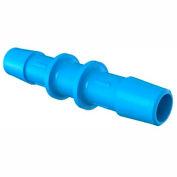 "Eldon James 3/8"" Barbed Straight Coupler, Antimicrobial High Density Polyethylene"