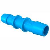 "Eldon James 1/2"" Barbed Straight Coupler, Antimicrobial High Density Polyethylene"