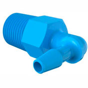 "1/8-27 Npt To 1/8"" Barbed Elbow, Antimicrobial Natural Non-Animal Derived Polypropylene"