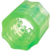 Luer Snap Lock Nuts, Medical Nylon, Lime
