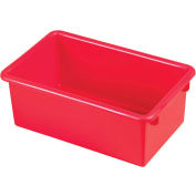 ECR4Kids®  ELR-0101 Stack & Store Tub, 13-1/2x8-1/2x5-1/4, Red, Priced Ea, Sold 15/PK - Pkg Qty 15