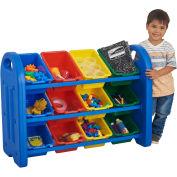 """ECR4Kids® 3-Tier Storage Organizer with 12 Tubs, 37-1/2""""W x 14""""D x 27-1/2""""H"""