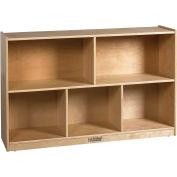 "ECR4Kids® Medium Birch Shelf Cubby Storage Cabinet, 5 Compartments, 48""W x 13""D x 30""H"
