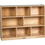 "ECR4Kids® High Birch Shelf Cubby Storage Cabinet, 8 Compartments, 48""W x 13""D x 36""H"