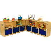 """ECR4Kids® Low Birch Fold & Lock Cabinet, 48""""W x 26""""D x 24""""H"""