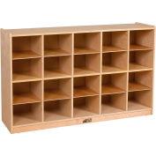 """ECR4Kids® 20 Tray Birch Storage Cabinet, 48""""W x 13""""D x 30""""H"""