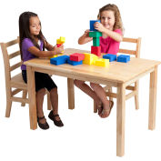 "24""x48"" Rectangular Hardwood Table (22"" Legs)"