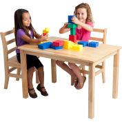 "ECR4Kids® 30"" x 48"" Rectangular Hardwood Table - 22"" Legs"