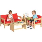 ECR4Kids® 4-Piece Living Room Set - Birch Red