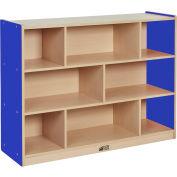 "ECR4Kids® Colorful Essentials High Storage Cabinet, 8 Compartment, 48""W x 15""D x 36""H, Blue"