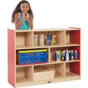 "ECR4Kids® Colorful Essentials High Storage Cabinet, 8 Compartment, 48""W x 15""D x 36""H, Red"