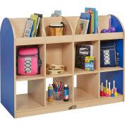 "ECR4Kids® Colorful Essentials Standard Book Storage Island, 48""W x 20""D x 36""H, Blue"