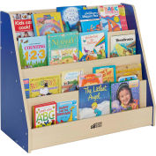 "ECR4Kids® Colorful Essentials Book Display Stand, 36""W x 16""D x 30""H, Blue"