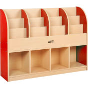 "ECR4Kids® Large Single-Sided Book Stand, 48""W x 12""D x 36""H, Red"