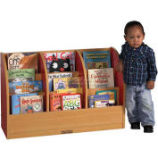 """ECR4Kids® Toddler Single-Sided Book Stand, 36""""W x 12""""D x 24""""H, Blue"""