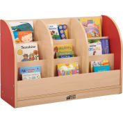 """ECR4Kids® Toddler Single-Sided Book Stand, 36""""W x 12""""D x 24""""H, Red"""