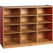 "ECR4Kids® Cubby Storage Cabinets, 12-Tray, 48""W x 15""D x 36""H, Blue"