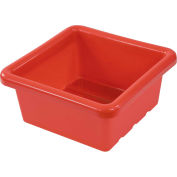 "ECR4Kids®  ELR-0800 Square Tray, 15""L x 15""W x 6-29/32""H, Red, Priced Ea, Sold 20/PK - Pkg Qty 20"