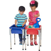 ECR4Kids® 2 Station Square Sand & Water Table with Lids