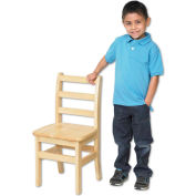 "ECR4Kids 12"" Three Rung Ladderback Chair Assembled Package Count 2"