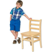 "ECR4Kids 14"" Three Rung Ladderback Chair Assembled Package Count 2"