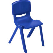 "ECR4Kids® 10"" Polypropylene Resin Chair - Blue - Pkg Qty 6"
