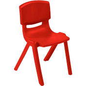"ECR4Kids® 10"" Polypropylene Resin Chair - Red - Pkg Qty 6"