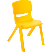 "ECR4Kids® 12"" Polypropylene Resin Chair - Yellow - Pkg Qty 6"
