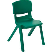 "ECR4Kids® 16"" Polypropylene Resin Chair - Green - Pkg Qty 6"