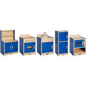ECR4Kids® Colorful Essentials Play Kitchen - 5 Pc. - Blue