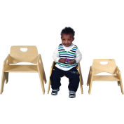 "Ecr4kids® 10"" Wooden Toddler Chair, Priced Ea, Sold 2/PK - Pkg Qty 2"