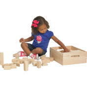 ECR4Kids® 64 Pc. Hardwood Building Block Set