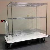 "Electro Kinetic Technologies Motorized Stock Cart MCS-1772-306015-54 1500 Lb. Cap. 60""x30""x54"""