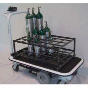 Electro Kinetic Technologies Motorized Medical Cylinder Cart MGC-1772-M32C 32 Cylinders Coated Rack