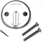 Watco 18702-Np Trip Lever Overflow Plate Kit, Two Screws, One Cotter Pin, Nickel Polished -Pkg Qty 2