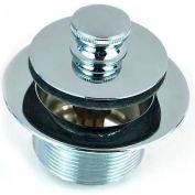 """Watco 58301-PB Lift & Turn Tub Closure, 1-5/8"""" x 16-Thread Body, Polished Brass"""