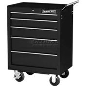 "Extreme Tools 26"" 5 Drawer Roller Cabinet in Black"