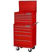 "Extreme Tools 26"" 7 Drawer Top Chest and 5 Drawer Roller Cabinet Combo in Red"